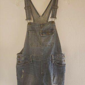 Mossimo Women's Denim Blue Jean Overall Shorts